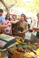The Saturday market in Uz&egrave;s, Languedoc, France....Photo by Owen Franken for the NY Times