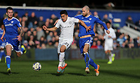 Queens Park Rangers' Massimo Luongo and Cardiff City's Matthew Connolly<br /> <br /> Photographer /Rob NewellCameraSport<br /> <br /> The EFL Sky Bet Championship - Queens Park Rangers v Cardiff City - Saturday 4th March 2017 - Loftus Road - London<br /> <br /> World Copyright &copy; 2017 CameraSport. All rights reserved. 43 Linden Ave. Countesthorpe. Leicester. England. LE8 5PG - Tel: +44 (0) 116 277 4147 - admin@camerasport.com - www.camerasport.com