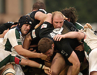 Wycombe, ENGLAND, Keiran Roche [left] and Lawrence Dallaglo in the maul, London Wasps vs London Irish  Guinness Premiership Rugby, at the, Causeway Stadium, © Peter Spurrier/Intersport-images.com,  / Mobile +44 [0] 7973 819 551 / email images@intersport-images.com.