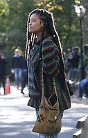 NEW YORK, NY November 07: Rihanna shooting on location for Ocean 8 in Central Park New York .November 07, 2016. Credit:RW/MediaPunch