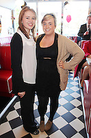 "NO REPRO FEE. 26/5/2011. NEW EDDIE ROCKET'S SHAKE SHOP. Maureen Farrell and Ciara Walsh are pictured in the new Eddie Rocket's Shake Shop. The design seeks to recall the vintage milkshake bars from 1950's America and re-imagine them for the 21st century. The new look aims to appeal to both young and old with a quirky and bold colour scheme and a concept of make-your-own milkshakes, based on the tag line ""You make it...We shake it!"". Eddie Rocket's City Diner in the Stillorgan Shopping Centre in south Dublin has re-opened after an exciting re-vamp and the addition of a Shake Shop. Ten new jobs have been created with the Diner's re-launch bringing the total working in Eddie Rocket's Stillorgan to 30. Picture James Horan/Collins Photos"