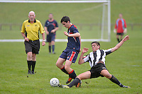 Action from the Premier Youth Football - HVHS v HIBS at HVHS, Lower Hutt, Wellington, New Zealand on Saturday 3 May 2014. <br /> Photo by Masanori Udagawa. <br /> www.photowellington.photoshelter.com.