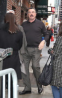 JAN 12 Tom Selleck at 'The Late Show with Stephen Colbert' in NYC