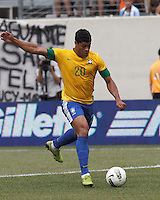 Brazil forward Hulk (20) at midfield. In an international friendly (Clash of Titans), Argentina defeated Brazil, 4-3, at MetLife Stadium on June 9, 2012.