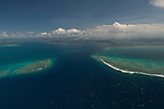 Aerial - Great Sea Reef channel from near Mali Island.