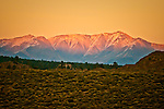 Heading in to Crowley Lake at Sunset, Eastern Sierra, CA.