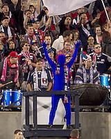 New England Revolution blue fan. Real Salt Lake defeated the New England Revolution, 2-1, at Gillette Stadium on October 2, 2010.