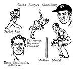 Notes for an Indian Summer ; Indian cricket tour <br /> Indian team ; Pankaj Roy , Dattatraya Gajanan Phadkar ,  Nirode Ramjan Chowdhury , Hemu Ramchandra Adhikari , Madhav Mantri .