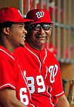 24 May 2009: Washington Nationals' coach Jose Martinez smiles in the dugout prior to a game against the Baltimore Orioles at Nationals Park in Washington, DC. The Nationals rallied to defeat the Orioles 8-5 and salvage a win in their interleague series. Mandatory Credit: Ed Wolfstein Photo