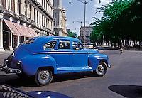 1940's Blue,  American  Classic, Car, Havana, Cuba, Republic of Cuba,