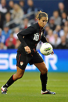 USWNT midfielder Carli Lloyd (10) in action.....USWNT played to a 1-1 tie with Canada at LIVESTRONG Sporting Park, Kansas City, Kansas.