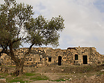 Ottoman ruins at Umm Qais, in northern Jordan.  Recorded in history as the town of Gadara, home of the Gadarenes as described in the Bible.  The site is unusual in that it contains ruins of an Ottoman town, over a Roman town, with the original Gadarene settlement below.  © Rick Collier