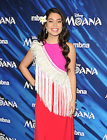 Auli&rsquo;i Cravalho at the &quot;Moana&quot; gala film screening, BAFTA, Piccadilly, London, England, UK, on Sunday 20 November 2016.<br />