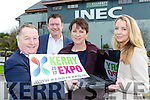 The Kerry Expo team launching its website in the INEC on Friday front row l-r:  Paul Sherry Kellarney Chamber Of Commerce, Fred McDonough, Liz Maher Chairperson,  Elin Sorsenson,