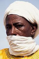 Niger - Tuareg Man, Veil.
