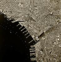 historical aerial photograph National City, San Diego county, California, 1966