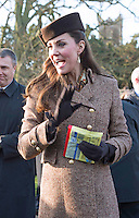English Royals attend Christmas Day Service at Sandringham - UK