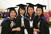 Happy graduates, University of Surrey.