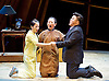 Thunderstorm <br /> by MO Fan <br /> based on the drama by Cao Yu <br /> Shanghai Opera House at The London Coliseum, London, Great Britain <br /> rehearsal <br /> 10th August 2016 <br /> <br /> <br /> <br /> <br />  <br /> <br /> Ji Yunhui as Sifeng <br /> Li Na as Shiping <br /> Han Peng as Zhou Ping <br /> <br /> Photograph by Elliott Franks <br /> Image licensed to Elliott Franks Photography Services