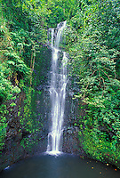 """This waterfall in Haleakala National Park at Kipahulu is also known as """"Seven Sacred Pools"""" or Oheo Gulch."""