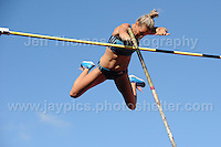 International athletics at Cardiff International stadium, Cardiff, South Wales - Tuesday 15th July 2014<br /> <br /> Vicky Parnov of Australia clears the bar during the Womens pole vault competition. <br /> <br /> <br /> Photo by Jeff Thomas Photography