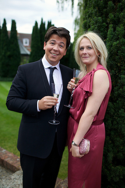Michael McIntyre and his wife Kitty McIntyre at Elton John's White Tie and Tiara Ball