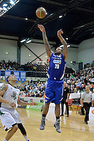 Benny Antony Jnr in action during the NBL - Wellington Saints v Manawatu Jets at TSB Bank Arena, Queens Wharf, Wellington, New Zealand on Thursday 8 May 2014. <br /> Photo by Masanori Udagawa. <br /> www.photowellington.photoshelter.com.