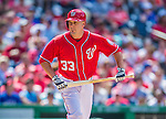 1 June 2014: Washington Nationals first baseman Greg Dobbs is walked during a game against the Texas Rangers at Nationals Park in Washington, DC. The Rangers shut out the Nationals 2-0 to salvage the third the third game of their 3-game inter-league series. Mandatory Credit: Ed Wolfstein Photo *** RAW (NEF) Image File Available ***