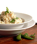 Risotto with Snap Peas
