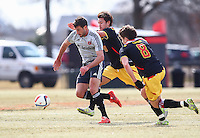 College Park, Maryland - Friday, March 13, 2015: D.C United played the University of Maryland in a closed door scrimmage at Ludwig Field, University of Maryland.