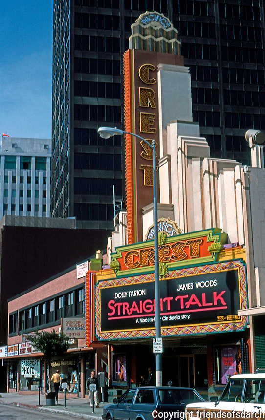 Movie Theatre: Los Angeles. Crest Theater, Westwood Blvd., just south of Wilshire.