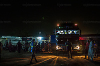 AGADEZ, NIGER &mdash; <br /> The bus station in Agadez, Niger is the final stop before thousands of migrants continue their journey north through the Sahara desert with the help of a sophisticated network of smugglers. a