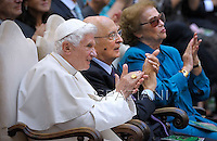 Concert in honor of Pope BENEDICT XVI, of his summer residence in Castelgandolfo on the outskirts of Rome , with the Italian President GIORGIO NAPOLITANO    . The West-Eastern Divan Orchestra direct by DANIEL BARENBOIM.July 11, 2012