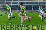 Kerry team warming up. Kerry v Limerick in the Final of the McGrath Cup at the Gaelic Grounds on Sunday.