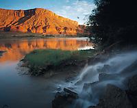 Waterfall into Colorado River, Utah    Richardson Amphitheater   Near Moab, Utah