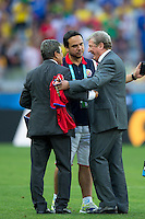 England manager Roy Hodgson shakes hands with Costa Rica manager Jorge Luis Pinto