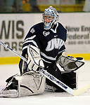 5 January 2007: University of New Hampshire goaltender Brian Foster (29) from Pembroke, NH, warms up prior to a game against the University of Vermont Catamounts at Gutterson Fieldhouse in Burlington, Vermont. The UNH Wildcats defeated Vermont 7-1 in front of a record setting 48th consecutive sellout at &quot;the Gut&quot;...Mandatory Photo Credit: Ed Wolfstein Photo.<br />