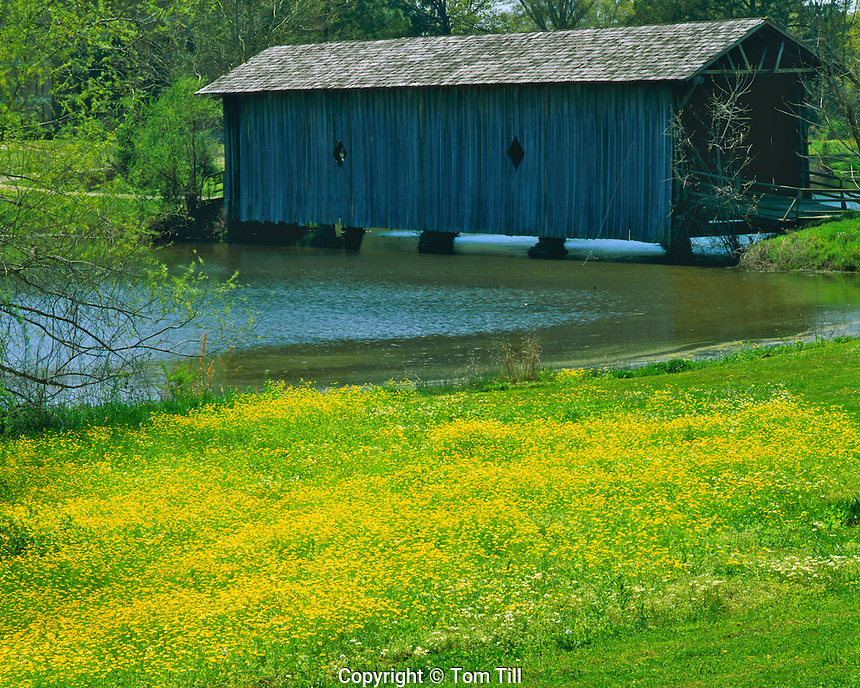 1861 Alamuchee Covered Bridge, Used by Southern Soldiers in Civil War, Livingston, Alabama