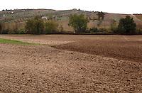 Campi arati. Plowed land.  ...