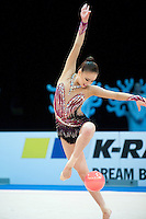 February 26, 2016 - Espoo, Finland - SON YEON-Jae of South Korea performs in All Around at Espoo World Cup 2016.