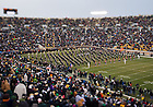 Nov. 23, 2013; The Notre Dame Marching Band takes the field before the BYU game.<br /> <br /> Photo by Matt Cashore
