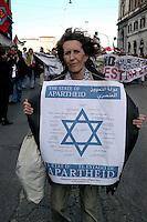 Roma  18 Febbraio 2006.Manifestazione per la Palestina .Rome, February 18, 2006 .Demonstration for Palestine.