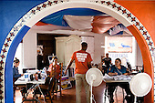 NOGALES, ARIZONA, USA, 22/10/2016:<br /> Volunteers working  at the Republican party headquarters, campaigning for Donald Trump and other republican candidates.<br /> Arizona, traditionally very republican state, has become a swing state with both main candidates equally scoring in polls. (Photo by Piotr Malecki / Napo Images)