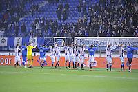 VOETBAL: HEERENVEEN: Abe Lenstra Stadion 29-10-2015, SC Heerenveen, SC Heerenveen - Helmond Sport, uitslag 1-0, Henk Veerman scoorde en kreeg aan het einde van de wedstrijd een rode kaart, supporters, ©foto Martin de Jong