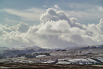 Snow covered fields and moors
