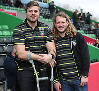 Leicester Tigers Sam Harrison and Ed Slater <br /> <br /> Photographer Rachel Holborn/CameraSport<br /> <br /> Anglo-Welsh Cup Final - Exeter Chiefs v Leicester Tigers - Sunday 19th March 2017 - The Stoop - London<br /> <br /> World Copyright &copy; 2017 CameraSport. All rights reserved. 43 Linden Ave. Countesthorpe. Leicester. England. LE8 5PG - Tel: +44 (0) 116 277 4147 - admin@camerasport.com - www.camerasport.com