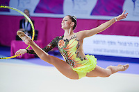 CAROLINA RODRIGUEZ of Spain performs with hoop at 2016 European Championships at Holon, Israel on June 18, 2016.
