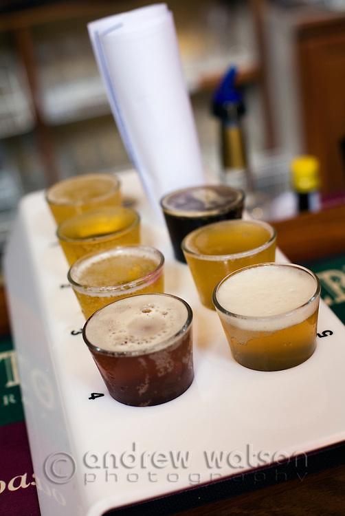 Beer tasting at the award winning Bootleg Brewery at Wilyabrup in  Margaret River, Western Australia, AUSTRALIA.