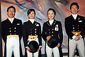 (L to R) .Hiroshi Hoketsu, Yuko Kitai, Mieko Yagi, Hiroyuki Kitahara (JPN), .January 31, 2008 - Equestrian : .Dressage during the Qualifying Event Group F/G for Beijing Olympic at the Chateau la Font du Broc in Arcs-Sur- Argnes in France..(Photo by AFLO SPORT) [0006]