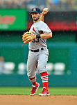 2 September 2012: St. Louis Cardinals infielder Daniel Descalso in action against the Washington Nationals at Nationals Park in Washington, DC. The Nationals edged out the visiting Cardinals 4-3, capping their 4-game series with three wins. Mandatory Credit: Ed Wolfstein Photo